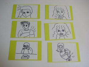 英会話レッスンの手作りカード